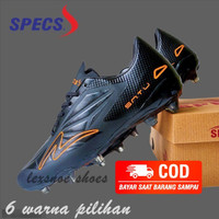 Sepatu sepak bola soccer specs accelerator satu elite - Hitam orange, 43