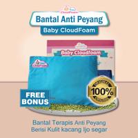 Baby CloudFoam Original - Bantal Terapis Anti Peyang - Biru Muda