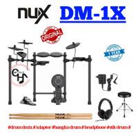 nux dm1x dm 1x dm-1x elektrik drum paket headphone bangku