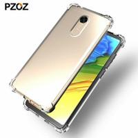 ANTI Crack Clear Soft Case Xiaomi Redmi 5 Plus Casing Cover Bening