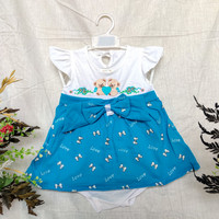 baju bayi perempuan 6 12 bulan love turquoise