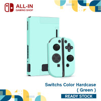 Nintendo Switch Color Case Cover,Ultra Thin, Hard Silicone Case Cover - Hijau