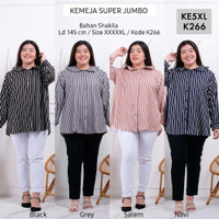 Kemeja Jumbo KE5XL Baju Atasan Wanita Super Jumbo