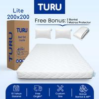 Kasur Base Support Foam TURU LITE ukuran 200x200 (Super King) +Bantal