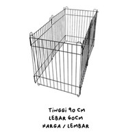 Kandang pagar besi anjing kucing kelinci tinggi 90 x 60