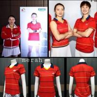 Baju Badminton Cewek Ladies 3011 B Red