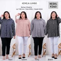 Kemeja Wanita Jumbo Kode KE3XL Baju Atasan Kemeja Bigsize