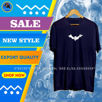 Baju Kaos Superhero Distro Pria Cowok Keren Logo Batman - Navy, L