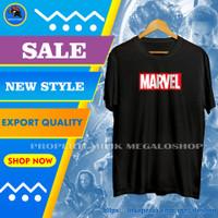 Kaos Oblong Superhero Pria Distro Cowok Keren Kekinian Marvel Terbaru - Hitam, XL