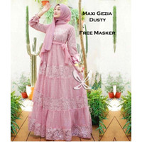 WNX - Maxi Gezia / Baju Gamis Kombi Brukat Tulang / Pakaian Muslimah /