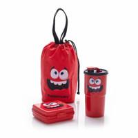 Smile Lunch Box Tupperware Bekal Makan Anak dengan Tas Serut Lucu Imut