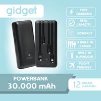 GIDGET - POWERBANK 30000mAh 4 Built-in Cable Fast Charging - A311