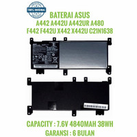 Baterai ASUS A442 A442U A442UR X442 F442U A480U C21N1638 ORIGINAL