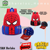 Tas Anak Sekolah/Ransel Anak Laki laki Karakter Spiderman Murah