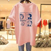 Doraemon T Shirt Oversized Wanita / Kaos Import
