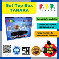 Set Top Box Tanaka DVB T2 support antena digital / uhf