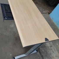 Meja kantor/Meja kerja Merk Modera kaki besi alumunium 140x75