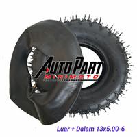 Ban LUAR dan DALAM ATV Ring 6 Ukuran 13x5.00-6 Set Luar + Dalam 1 Set