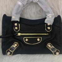 Balenciaga city edge mini black mirror vip original leather