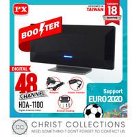 PX ANTENA TV DIGITAL & ANALOG BOOSTER INDOOR + KABEL HDA-1100