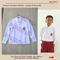 Baju Lengan Panjang Atasan SD - Seragam Sekolah Resko