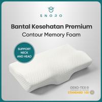 SNORO Contour Memory Foam Premium Pillow / Bantal Memory Foam