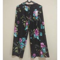 preloved celana kulot wanita motif bunga 35ribu