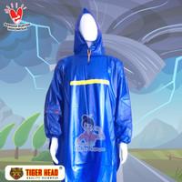 Jas hujan PONCO lengan TIGER HEAD BIG TOP 68209 ORI Mantel tebal Murah - Biru Muda