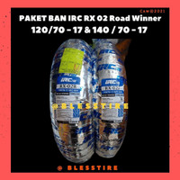 Paket Ban IRC Tubeles RX-02 Uk 120/70-17 & 140/70-17 Road Winner