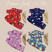Piyama Anak Junior Baju Tidur Setelan Piyama Kids Karakter 8-12 Th