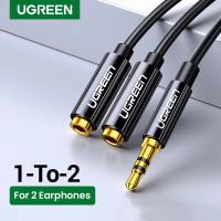 Ugreen Aux Audio Splitter 3.5mm Kabel Aux Splitter Earphone Headphone