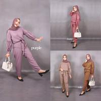 Fashion Wanita Setelan Baju Perempuan Hijab Chyra Set