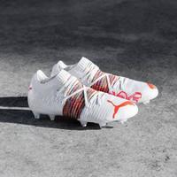 SEPATU BOLA PUMA FUTURE Z 1.1 WHITE RED BLAST