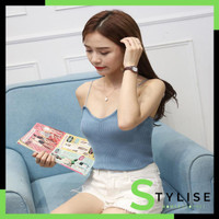 Stylise Korea Knit Tank Top Wanita / Kamisol Rajut / Tanktop 4030