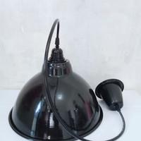 kap lampu gantung hitam diameter 30 cm