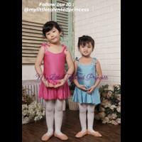 Setelan Dress Baju Ballet Anak Tanktop Spandex FREE STOCKING