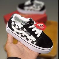 Sepatu Anak Vans Old Skool Kotak Kotak Hitam Putih Premium BNIB