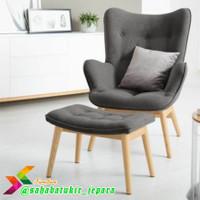 Sofa santai dpn tv sofa livingroom + puk sandaran kaki & bantal peluk