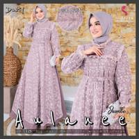 Gamis Broklat Baju Kondangan Kekinian Aulanee Jumbo Original Shofiya