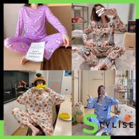 Stylise Piyama Wanita Import Lengan Panjang Kartun Fit to XXL 4018 -2