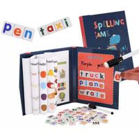 Spelling Game Board Book Hard Cover Buku Belajar Aktivitas Anak Learn
