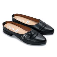 Sepatu Heels Wanita Hak Tahu Pendek Vidha DH08 - Hitam - 37