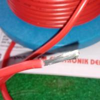 kabel AWG12 AWG 12 diamater serabut 4mm made in JAPAN merah per meter