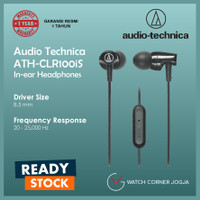 Audio Technica ATH-CLR100iS Earphone Headset with Mic ORIGINAL GARANSI