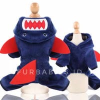 Baju Kostum Jumper Hiu Anjing Kucing Cat Dog Pet Hewan S M L XL - S