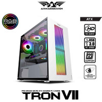 Armageddon Tron VII ATX Gaming Case Tempered Glass Side Panel