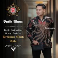 Baju Batik Remaja Pria Lengan Pendek Kemeja Premium Furing Motif AL009 - S