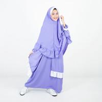 Bajuyuli - Baju Muslim Anak Perempuan Syari Rempel Pet - Lilac Ungu