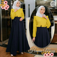 Baju Gamis Dress Muslim Wanita Hanaa Maxi Jumbo Bigsize Terbaru
