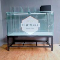 Aquarium, Rak dan Top Filter kaca 120x60x60 full 10 mm Custom PO